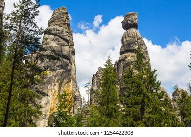 Spectacular giant rocks in Adrspach Rocky City - Adršpach-Teplice Rocks National Park