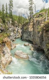 A spectacular gorge in the Kootenay national Park.