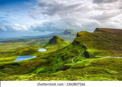 spectacular landscape with mountains and clouds
