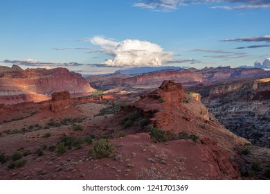 Spectacular landscapes of Capitol reef National park in Utah, USA