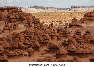 Spectacular landscapes of Goblin valley state park in Utah, USA