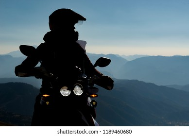 Spectacular motorcycle travel and tranquil landscapes