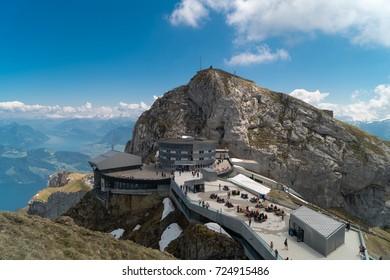 Spectacular mountain views from Pilatus Kulm, Switzerland