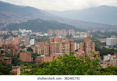 Spectacular panorama of Medellin, Colombia