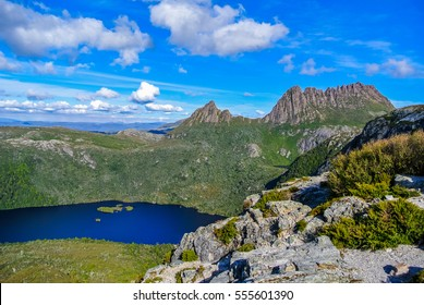 Spectacular panoramic view over Cradle Mountain and Dove Lake at Cradle Mt - Lake St Clair National Park, Tasmania