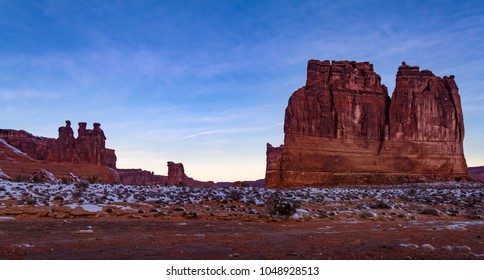 "Spectacular panoramic view of ""The Organ"" in Arches National Park in Moab, Utah USA."