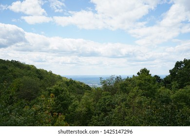 Spectacular Pennsylvania Landscape. Mountains in the Forbes State Forest.