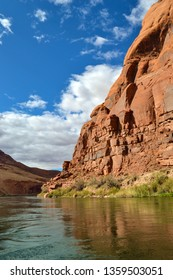 Spectacular Red Rock Formations On The Colorado River In Northern Arizona Glen Canyon Area