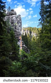 Spectacular Rock City in Adrspach, mountains, national park, Czech Republic