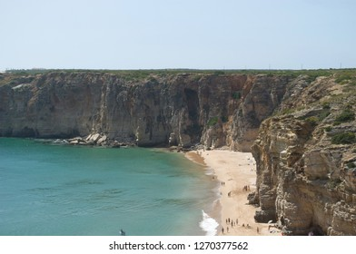 spectacular rocks directly above the ocean