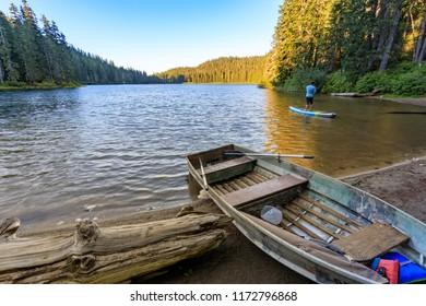 Spectacular scenic of Council Lake in Washington near Portland city
