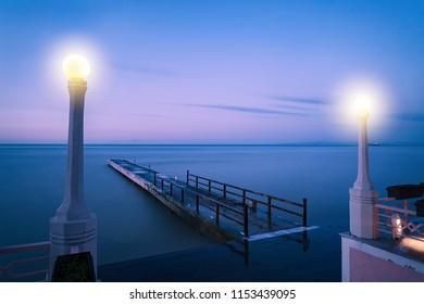 Spectacular sea view over the evening. Yalova, Bursa, Turkey