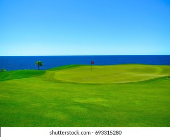 Spectacular Seaside Golf Course - Putting Green with Skyline View of the Sea