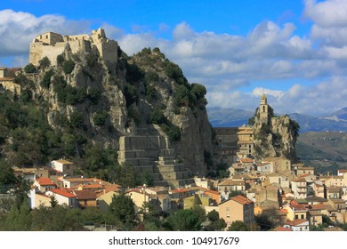 Spectacular situated village Bagnoli del Trigno in the Italian province Molise