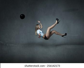 spectacular soccer kick