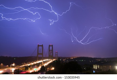 Spectacular storm shows it's power over the Tacoma Narrows