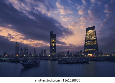 A spectacular sunrise in Kuwait City