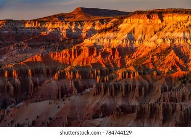Spectacular sunset at Cedar Breaks National Monument in Utah.