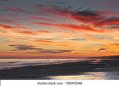 A spectacular sunset on Hilton Head Island.