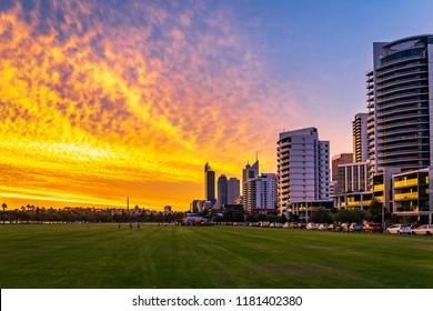 A spectacular sunset in Perth, Australia