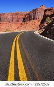 Spectacular Utah canyon road