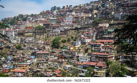 Spectacular view of densely populated city based on hills