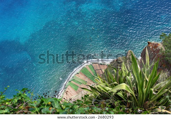 Spectacular view from the highest Madeira cliff Cabo Girao