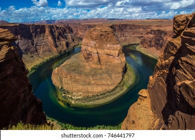 Spectacular view of the Horseshoe bend, Arizona USA