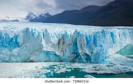 Spectacular view on the Perito Moreno Glacier in Los Glaciares National Park in Argentina