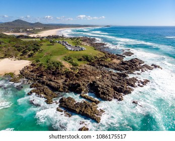 A spectacular view over Hastings Point towards Cabarita Beach in New South Wales, Australia