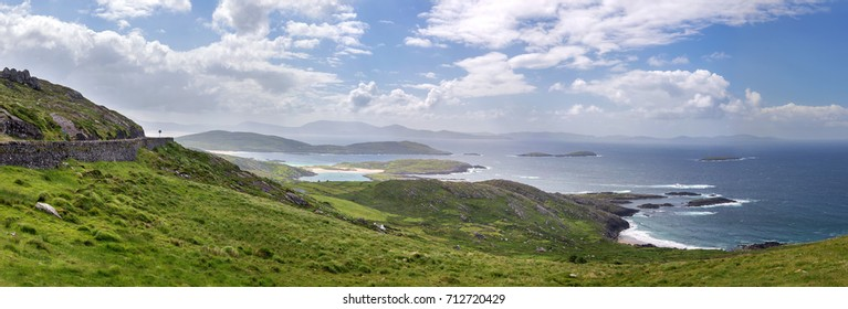 Spectacular view at Ring of Kerry, a famous coastal route in Ireland, Europe