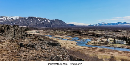 Spectacular view from the Thingvellir national park