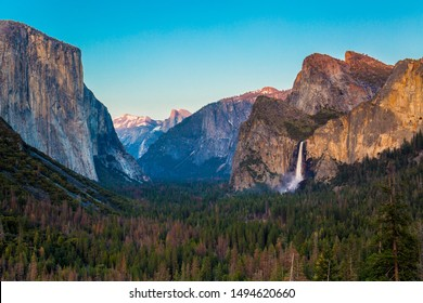 A spectacular view at Tunnel View Point, Yosemite National Park, California, USA