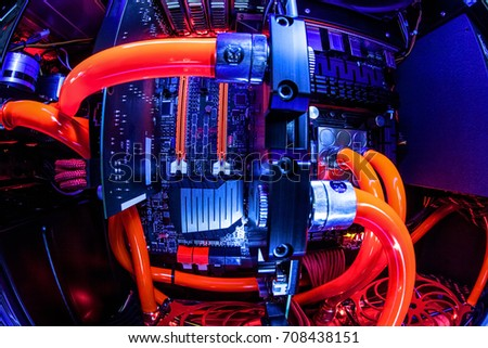 spectacular water cooling pc system の写真素材 今すぐ編集