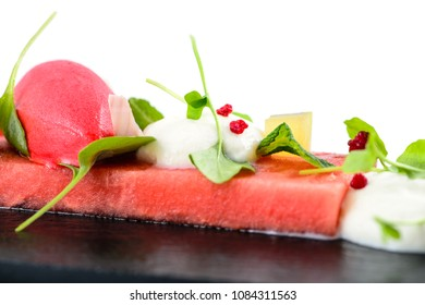 Spectacular watermelon dessert