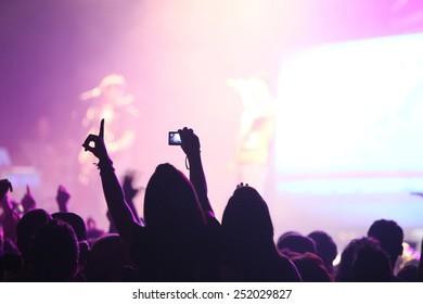 Spectators at concert
