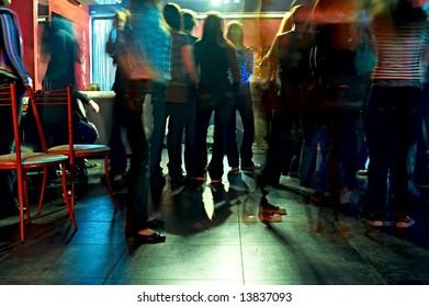 spectators on concerto in club