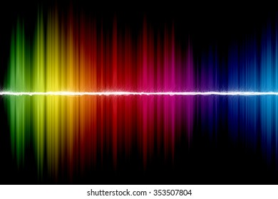Spectrum abstract color on the black background