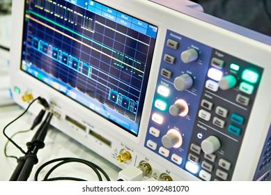 Spectrum analyzer in the laboratory