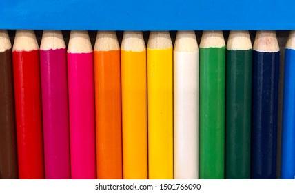 Spectrum of color pencils in box