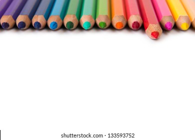 Spectrum of color pencils with the focus on red pencil