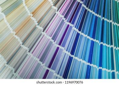 Spectrum of colors in pantone fan.