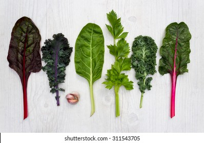 Spectrum of healthy green vegetable