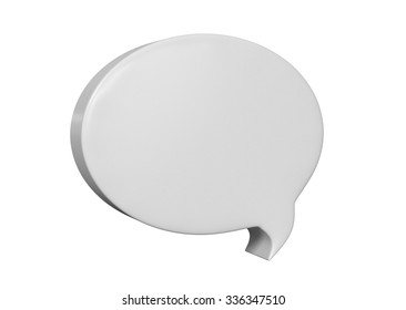 Speech balloon on white background with path.