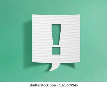 Speech bubble with exclamation point