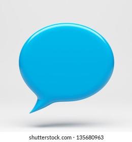 Speech Bubble Icon - Clipping Path