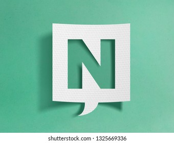 Speech bubble with letter N