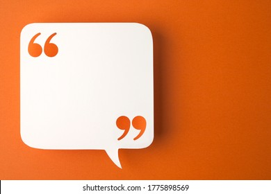 speech bubble on orange background