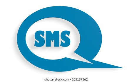 speech bubble with sms text