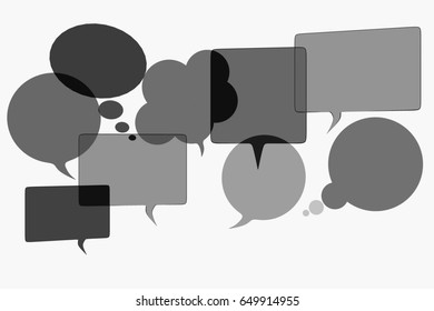 Speech bubbles, 3d illustration